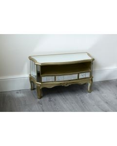Sophia Shabby Chic Mirrored Television Unit Champagne