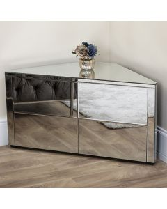 Mirrored 4 Drawer Corner Unit