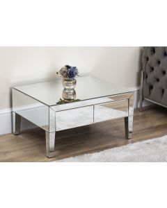 Mirrored Angled Coffee Table