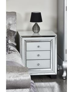 3 drawer bedside table nightstand