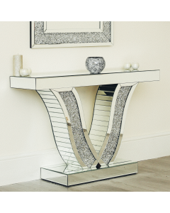 V-shaped console table / occasional table
