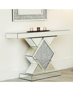 Diamond Shaped Console - Diamond Crush