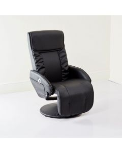 Black Recliner Arm Chair USB Speakers