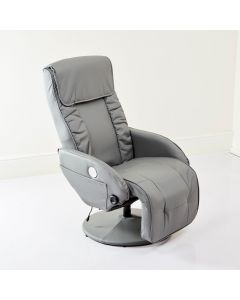 Grey Recliner Arm Chair USB Speakers