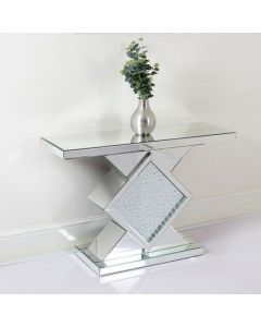 Floating Crystal Console Table