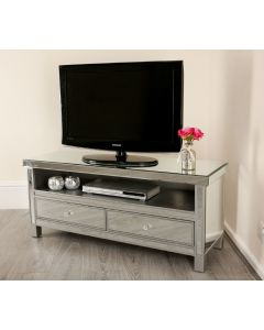 Venetian Mirrored TV Stand with Storage