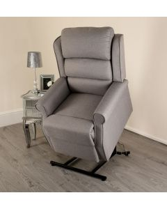 Grey Fabric Lift and Rise Recliner Mobility Chair