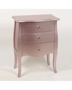 Rose Gold 3 Drawers Chest