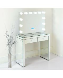 Hollywood Bluetooth All Mirror and Dressing Table