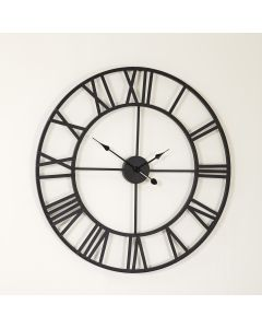 Extra Large Iron Clock with Roman Numerals
