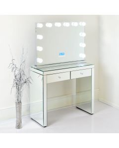 Monroe Hollywood Mirror and Dressing Table in Full Mirror