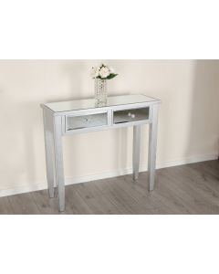 Anna 2 Drawer Mirrored Console Table