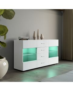 LED White High Gloss Sideboard Unit