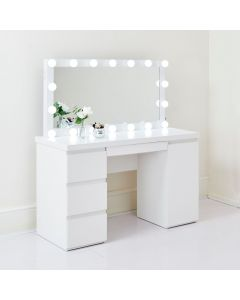 Taylor Hollywood Mirror and Dressing Table in White