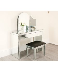Tiffany Mirrored Dressing Table Set