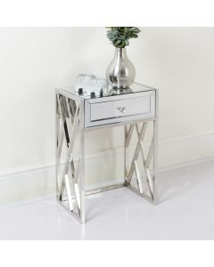 Evelyn Mirror 1 Drawer Side Table