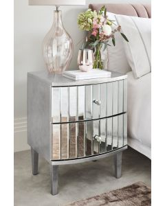 Ophelia Two Drawer Bedside Table
