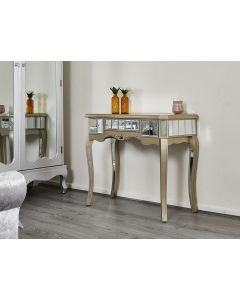 Sophia mirror console table champagne gold shabby chic