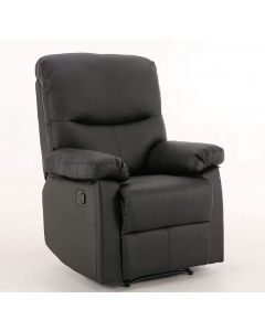 Capri Black 1 Seat Recliner
