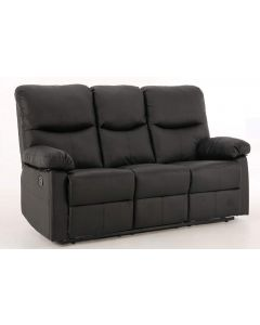 Capri Black 3 Seat Recliner