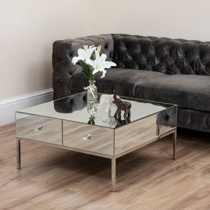 Harper Mirror 2 Drawer Coffee Table Abreo Home Furniture