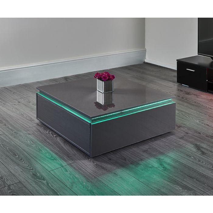 Grey Led Coffee Table Abreo Abreo Home Furniture