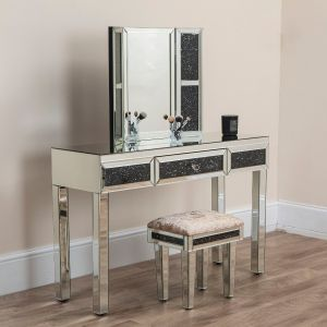 Black Diamond Crush Dressing Table Set